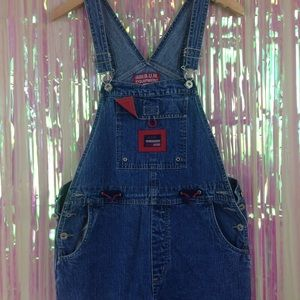 VTG 90s BUM equipment denim overalls B2